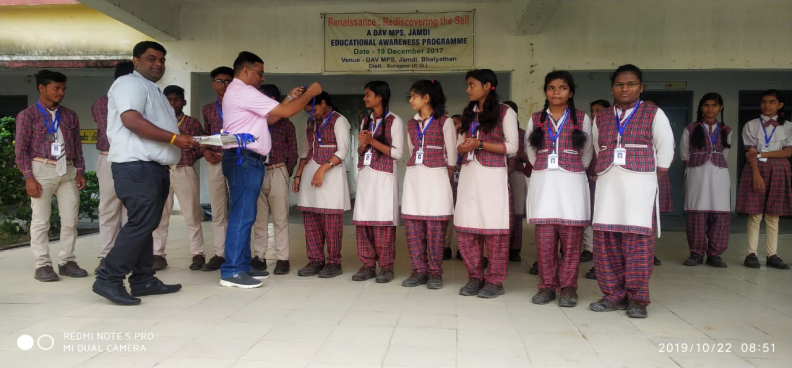 Prize Distribution By Principal sir